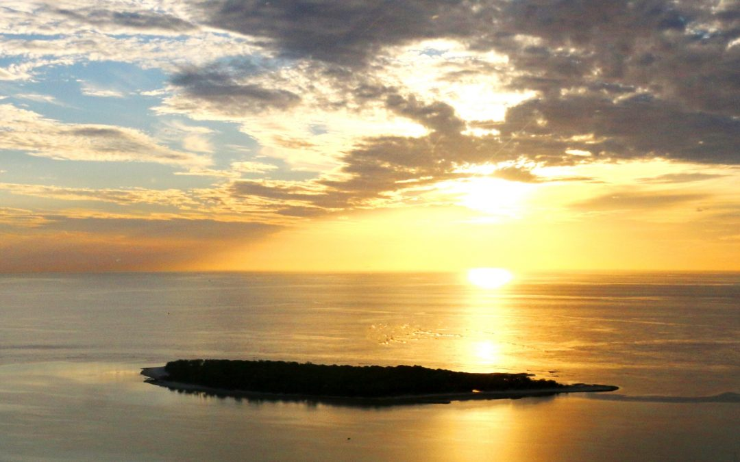 sunsets on lady musgrave island